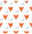 seamless pattern with cute foxes white vector image vector image