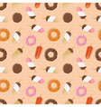 Seamless pattern with ice cream and donuts vector image vector image