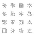 set chemical concept icons in thin line vector image