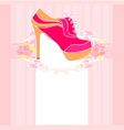 shoes vintage poster vector image vector image