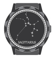 The watch dial with the zodiac sign Sagittarius vector image vector image
