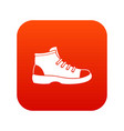tourist shoe icon digital red vector image vector image