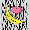 tropical banana patches fruit design vector image