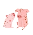 Two Pigs Parent and Child Cartoon vector image vector image