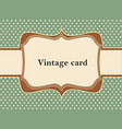 Vintage polka dot card vector image