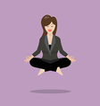 Woman in meditation vector image