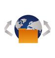 world folder file vector image vector image