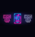 zone vaping neon sign template light vector image