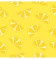 Seamless pattern of yellow lemon slices vector image
