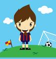 funny cartoon soccer player league art vector image