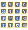 shields set icons set blue vector image