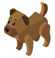 3d design for little dog vector image vector image