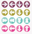 Arrow icons shadow vector image vector image