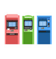 atm machines set vector image