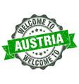 austria round ribbon seal vector image vector image