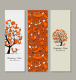 banners design foxy tree vector image vector image