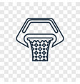 Basketball concept linear icon isolated on