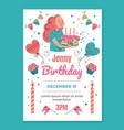 birthday invitation template mockup typography vector image vector image