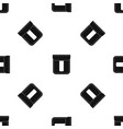 black pocket pattern seamless black vector image vector image