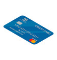 blue credit card icon isometric style vector image vector image