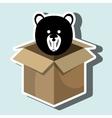 box bear toy vector image