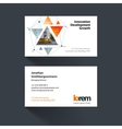 business card template with triangular vector image vector image