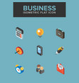 business isometric icon vector image