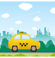 car taxi vector image