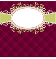 checked red background with label vector image vector image