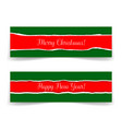 christmas and new year banners in grunge style vector image vector image