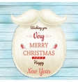 Christmas card with a beard Santa Claus EPS 10 vector image