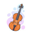 classical wooden violin without a bow vector image
