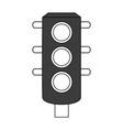 color silhouette image black traffic light element vector image