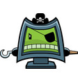 computer pirate vector image vector image