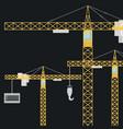 construction crane design vector image vector image