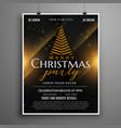 dark christmas celebration card invitation flyer vector image