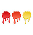 drip paint spot 3d set isolated white background vector image