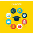 education infographic concept vector image vector image