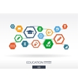 Education network Hexagon abstract background vector image vector image