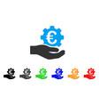 euro gear service hand icon vector image vector image