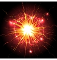 Explosion in the sky vector image vector image