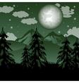 Fantastic mountain landscape vector image vector image