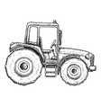 farming tractor sketch vector image