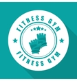 Fitness and gym design vector image