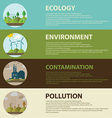 Flat design concept with icons of ecology vector image vector image