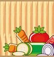 fresh vegetables healthy salad vector image vector image