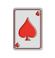 gambling card isolated vector image vector image