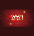 gold and red happy new year banner design vector image vector image