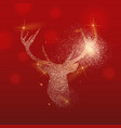 gold glitter deer head christmas vector image vector image