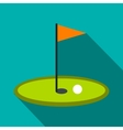 Golf flag flat icon vector image vector image